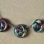 barevný náhrdelník z fima