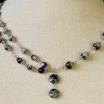 obsidián náhrdelník