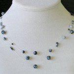 náhrdelník motanice obsidián