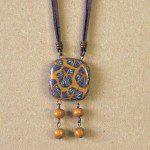 náhrdelník zlaté fimo