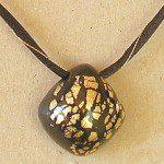 náhrdelník polymer černý
