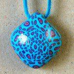 náhrdelník polymer s divokým vzorem