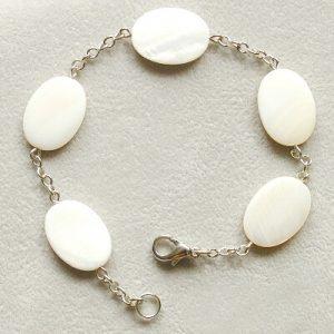 naramek prirodni perlet ovalky